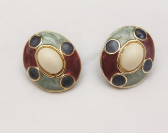"80's Vintage ""JOYCE"" Fancy Clip-On Earrings"