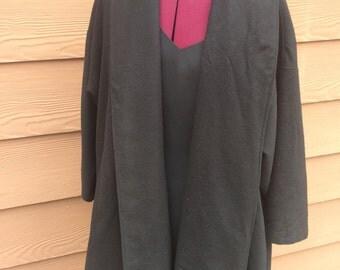 Blk cape coat
