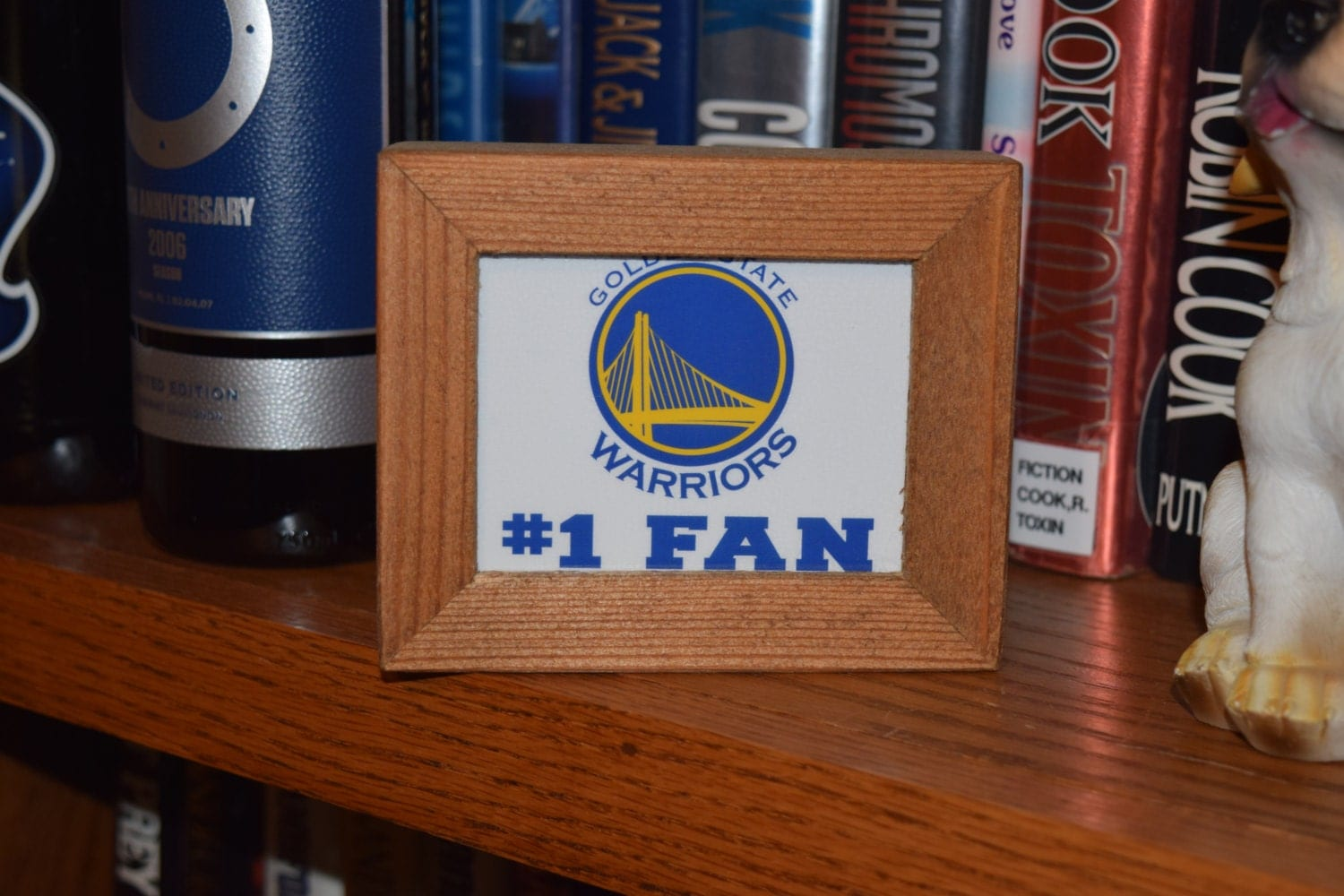 Personalized Man Cave Signs Free Shipping : Free shipping golden state warriors custom cedar framed