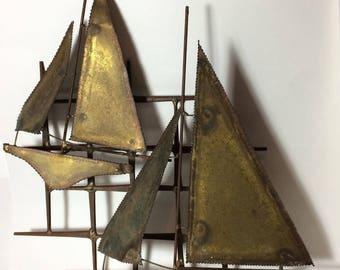 Sailboat Wall Art copper sailboat | etsy