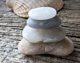 Zen Rocks - Beach Stones - Zen Stacking Stones - Desktop Zen Garden Decor - Rock Cairn - Meditation Alter - Stress Relief Friend Gift