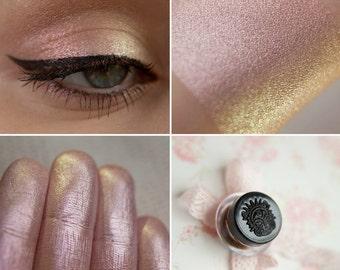 Eyeshadow: Lulling Mother - Druidess. Pinkish-green satin eyeshadow by SIGIL inspired.