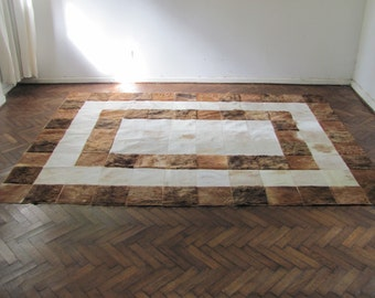 Cowhide Patchwork Rug 7922          240 cm x 180 cm (7.9 ft x 5.9 ft)