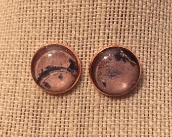 16mm Writing in the Sand Stud Earrings