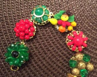 Vintage Handmade Earring Bracelet - Fun!