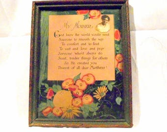 """Mother's Day Poem """"My Mother"""" 1930's"""