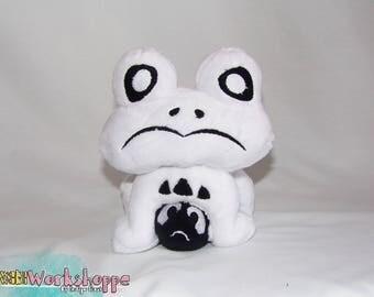18cm UNDERTALE inspired: Froggit 18cm minky handcrafted plush