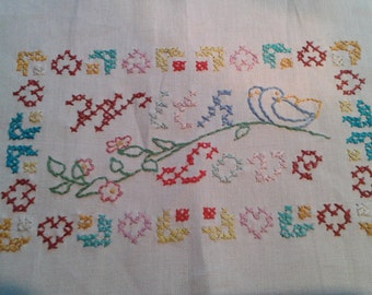 Hand Embroidered 'With Love' Cloth