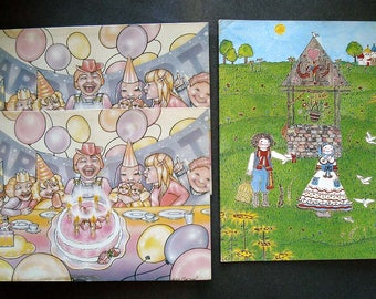 3 Vintage Retro Graphics Notecards Parnassus One Step Beyond 1970s Collectibles Happy Birthday
