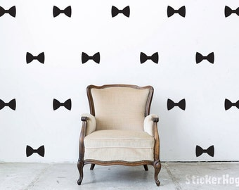 Bow Tie Pattern Mini Wall Decals Graphic Vinyl Sticker Bedroom Living Room Wall Home Decor