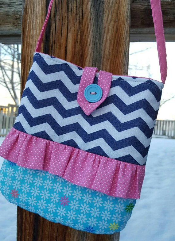 Personalized Toddler Purse, Little Girl's Chevron Purse