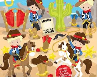 80% OFF SALE Cowboy clipart commercial use, unicorn vector graphics, rainbow digital clip art, digital images, wild west - CL774