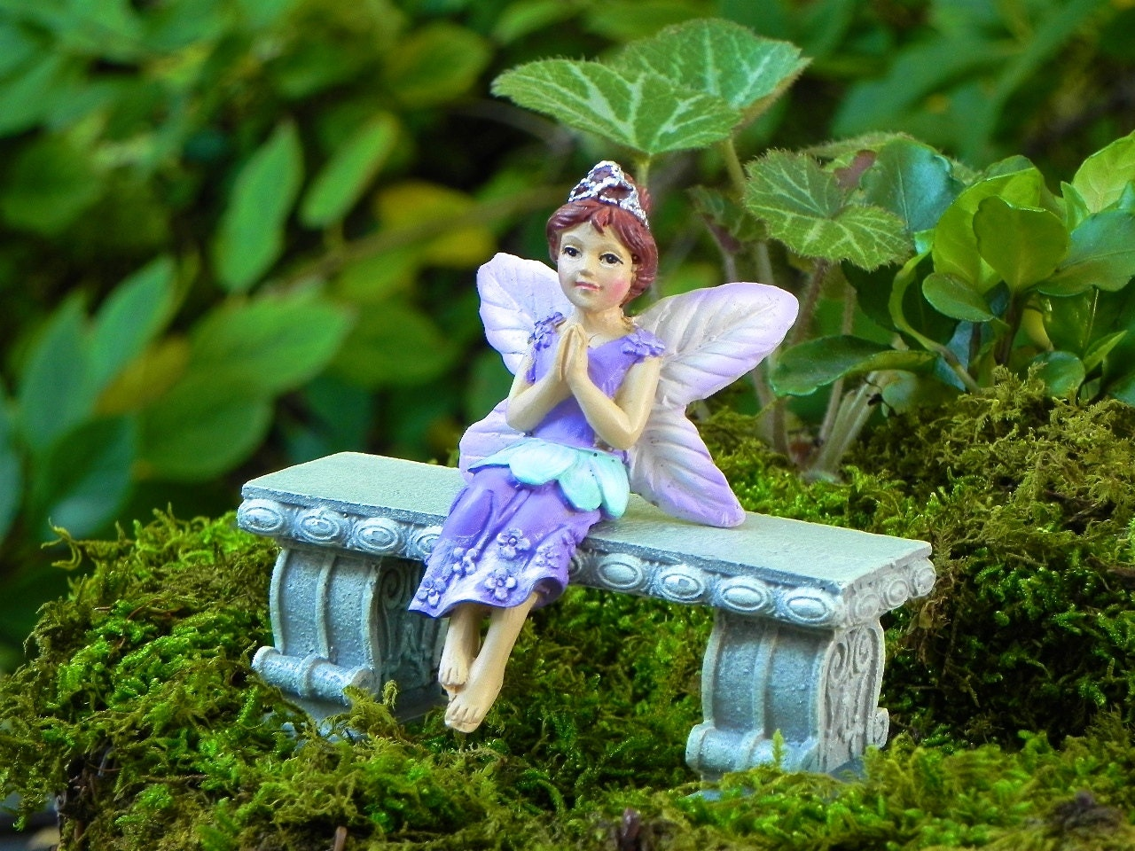 Fairy garden fairy princess figurine miniature garden for Fairy garden figurines