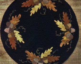 Wool Applique Pattern -  Signs of Autumn - Choice of Pattern Only or Pattern with Wool Kit