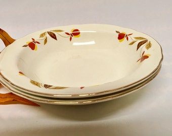 Mid Century Hall China Jewel Tea Autumn Leaf Dessert/Berry Bowls (2), 1940s Collectible/Autumn Leaf Pattern/Replacements/Gift Idea/USA Made/