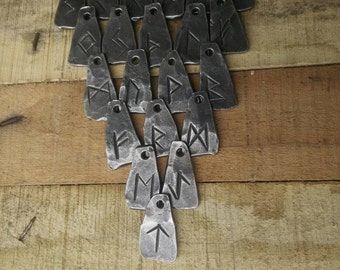 Hand forged viking Rune Keyrings