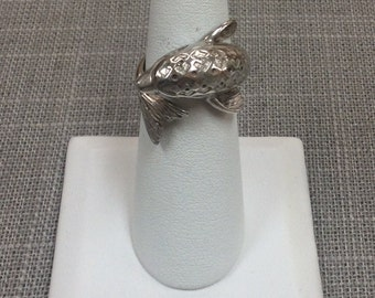 Vintage 925 Sterling Silver Twosome's Dolphin Ring, Size  6
