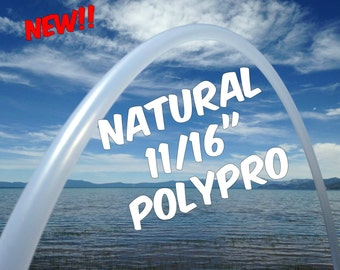 "11/16"" Natural Polypro Practice Hula Hoop - Colapsible Travel Hoop - You Pick the size"