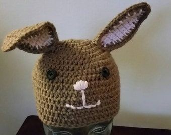 Bunny Hat Crocheted 7 sizes and 4 colors