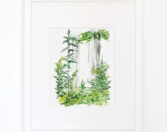 Forest of Lush Greens - Watercolor Art Print
