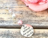 Valentines Day Sale She believed she could so she did Pearls and Crystal Planner Charm-Gift Idea Midori Fauxdori kiki k Filofax