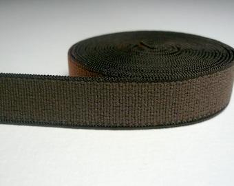 Bra & Knicker Making Band Elastic. Brown Plain Band. Plush back. 12 mm wide