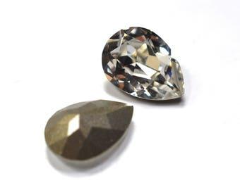 Swarovski 14x10mm Pear Shape 4320 Crystal 1 Piece