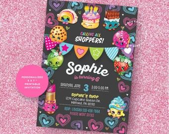 Shopkins Invitation, Shopkins Invite, Shopkins Party, Shopkins Printable, Shopkins Party Invitations