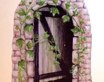 Secret Fairy Door - (REMOVABLE) Wall Decal