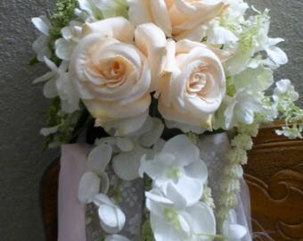 Wedding flowers - Pew Decorations - Chair Decorations - Wedding swags for Arbor - Floral tiebacks for Arbor - Wedding decorations