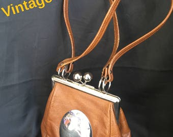 Vintage Margold Leather purse unique cute