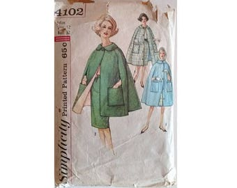Vintage 50's 60's Simplicity 4120 Sewing Pattern Cape in 2 Lengths and Slim Pencil Skirt