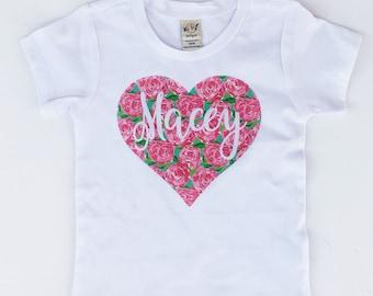 Baby Girl Valentine Shirt, Newborn Valentine Outfit Personalized Girls Valentine, personalized baby clothes,