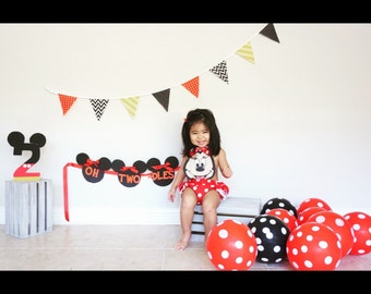 Minnie mouse, toddler, childs, romper, jumper, ruffles, girls, halloween, costume, birthday, summer, spring