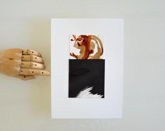 Original abstract collage ink art, modern art, original, abstract art, ink modern collage art, abstract, art, ooak of art by Cristina Ripper