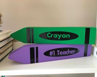 Large Wooden Crayon // Customizable