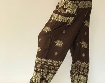 SM0048 Thai Genie Pants Comfy Trouser, Gypsy Pants Rayon Pants,Aladdin Pants Maxi Pants Boho Pants