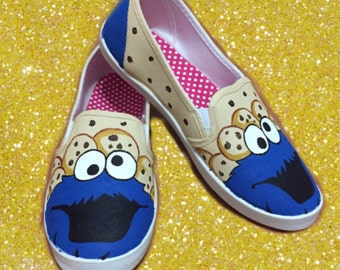 Cookie Monster Shoes. Sesame Street Toms.  [I can customize characters]
