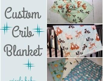 Custom Baby Blanket, Crib Blanket, Lovey, Baby Quilt, Nursery Decor, Babies First Blanket, New Baby, Shower Gift, Custom Quilt