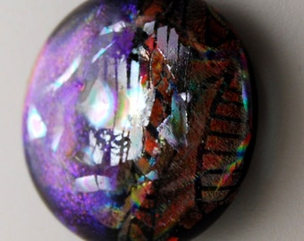 2756 dichroic cabochon - free shipping