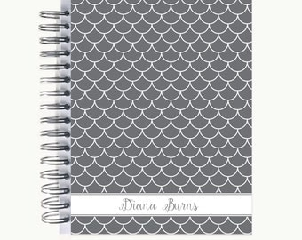 Daily Sidekick Planner – Personalized  | Monthly Calendar | To Do List | Hourly | Organizer | Agenda | Bound | Scallop