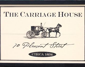 Livery Stable Custom Signage - Barn Custom Sign - Carriage House Custom Signs - Horse & Buggy Livery Stable Sign - Classic 1800s Sign