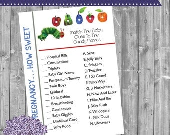 Book Baby Shower Game - Pregnancy How Sweet It Is Game - Candy Game - Word Game - Baby Shower Game - Shower Game - Shower Games - Prize