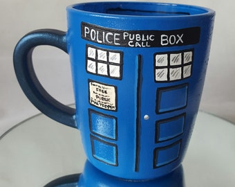 Tardis from Dr. Who Design Glass Mug