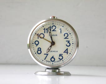 Vintage Mechanical Alarm Clock - Slava - Made in USSR