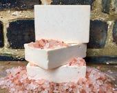 Salt Soap, Himalayan Salt Soap, Geranium Soap, Rose Soap, Vegan Soap, Salt Bar Soap, Himalayan Pink Salt