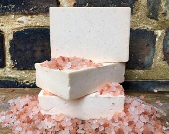 Himalayan  Salt Soap, Salt Soap, Vegan Soap, Salt Bar Soap, Himalayan Pink Salt