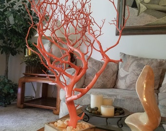 Coral Manzanita Tree Centerpiece for home decor