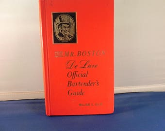 Vintage Bartenders Guide Old Mr. Boston Deluxe Official Bartenders Guide