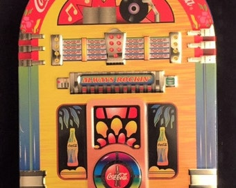 Coca Cola jukebox tin